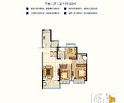 三室二厅二卫约122m²